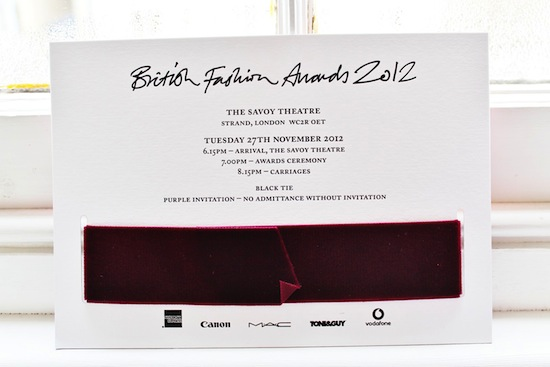PREMIOS BRITISH FASHION AWARD 2012