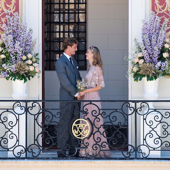 La Alta Costura en  una boda  Monegasca