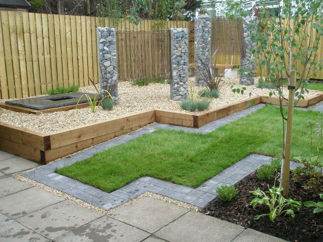 diseno minimalista hogar jardin lleno de piedras - Ideas Para Jardines