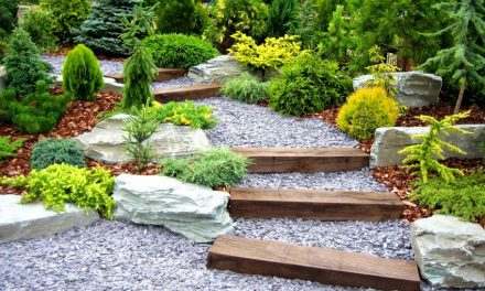 Ideas para decorar jardines con piedras