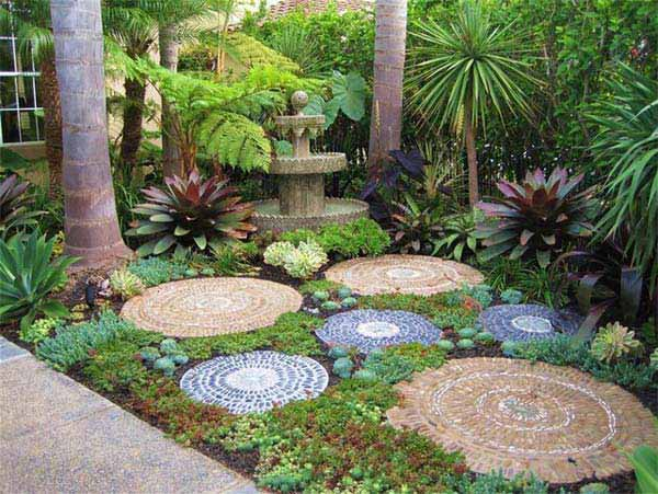 Ideas para decorar jardines con piedras contrapiel for Rocas decorativas para jardin